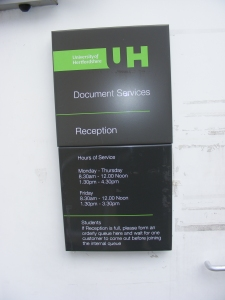 Document Services at The University of Hertfordshire